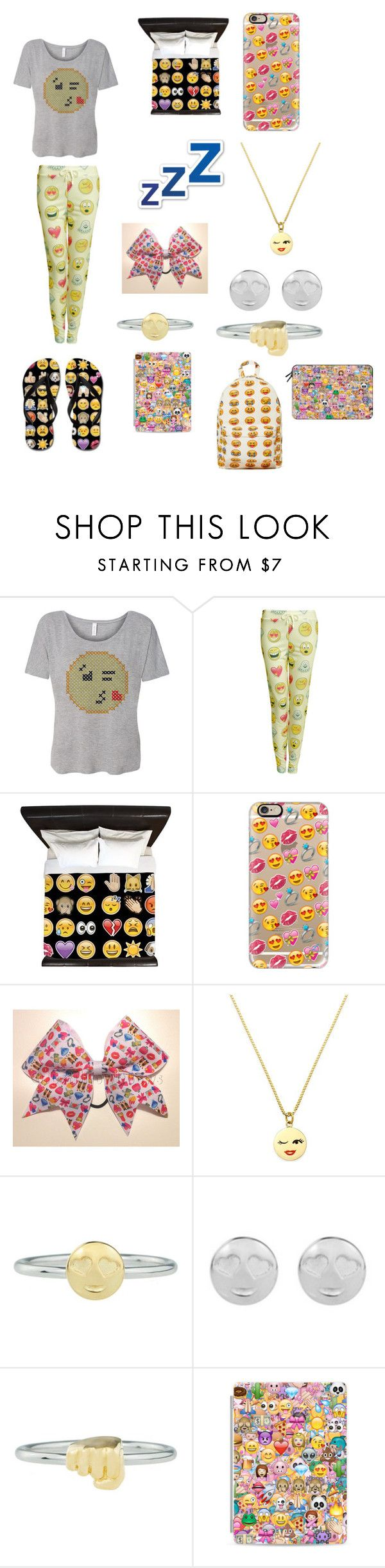 """""""Emoji Yaaaaas!"""" by ceeceegrant ❤ liked on Polyvore featuring Pilot, Casetify, Kate Spade and Rock 'N Rose"""