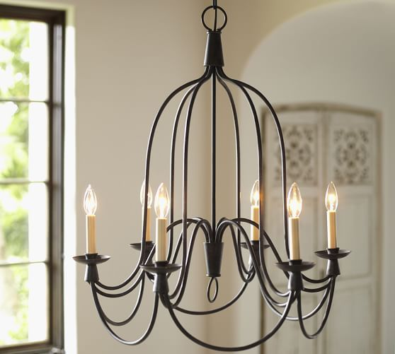 Indoor/Outdoor Chandelier   Affiliate Rustic Neutral Farmhouse · Pottery  Barn ...