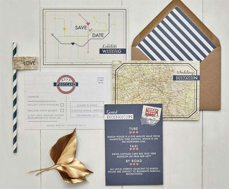 this london underground invitation set from papergrace would be idea if youre tying the wedding venues