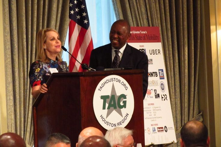 """""""In his speech before the Transportation Advocacy Group, Mayor Sylvester Turner said Houston can't solve its congestion problems by just building more roads. He said there has to be a multi-modal approach, that includes bike lanes, buses, commuter rail, and safer places to walk."""""""