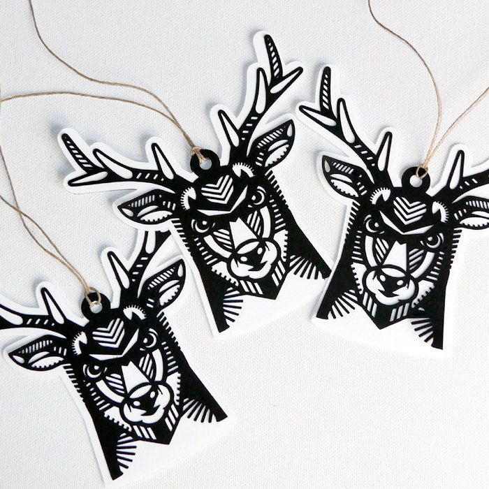 Deer antlers paper decoration, decoration for Christmas, Set 3 pieces by PSIAKREW on Etsy