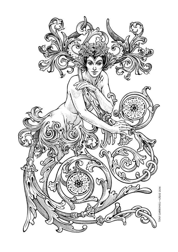 391 best images about Adult Colouring Zodiac