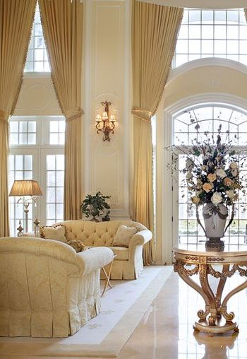 17 best ideas about tall window curtains on pinterest - Long or short curtains in living room ...