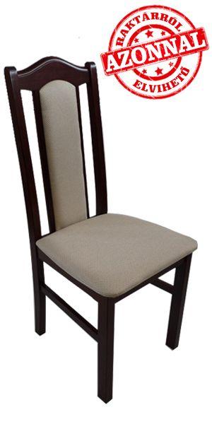 Boss szék, Tömör bükkfa szék, textil bevonatú ülőlappal,<br>Méretek:<br>magasság.: 96 cm,<br>szélesség.: 43 cm,<br>mélység.: 40 cm<br><br><br>Az aktuális kárpitokról érdeklődjön ügyfélszolgálatunkon!<br>