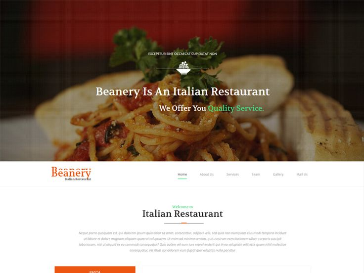 Beanery is a clean and luxurious free restaurant Bootstrap template for your hotel, restaurant, booking, motel business websites.This delicious web template is designed using HTML5, CSS3. This template will help you to create an eye-catching and modern restaurant website that won't cost you a penny. Don't miss it!