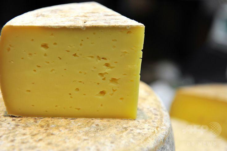 仏トゥールで開かれた食品見本市で展示されるチーズ(2011年11月18日撮影、資料写真)。(c)AFP/ALAIN JOCARD ▼8Jun2015AFP|「チーズ職人世界一」に日本在住のフランス人 http://www.afpbb.com/articles/-/3051028 #cheese