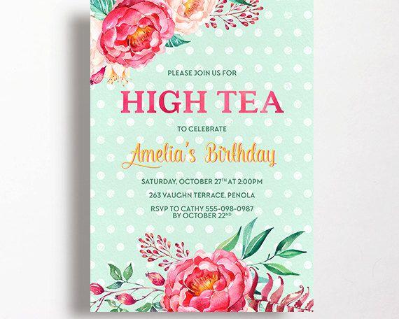 best 10+ high tea invitations ideas on pinterest | tea party, Invitation templates