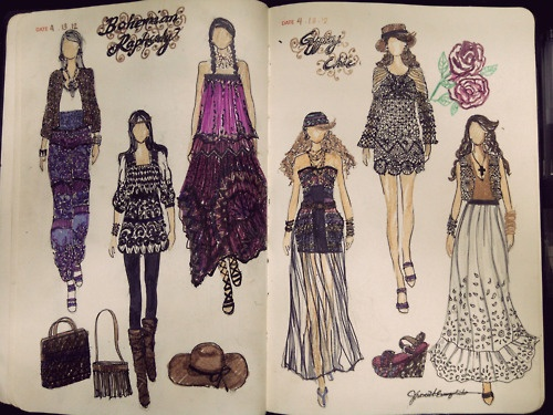 I want one ,soooooo bad!!!  fashionary sketches
