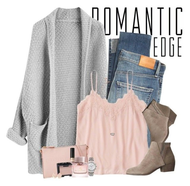 """""""Pink & gray"""" by steffiestaffie on Polyvore featuring Citizens of Humanity, Abercrombie & Fitch, Madden Girl, Burberry, Too Faced Cosmetics, NARS Cosmetics, Ingersoll, Kendra Scott and Estella Bartlett"""