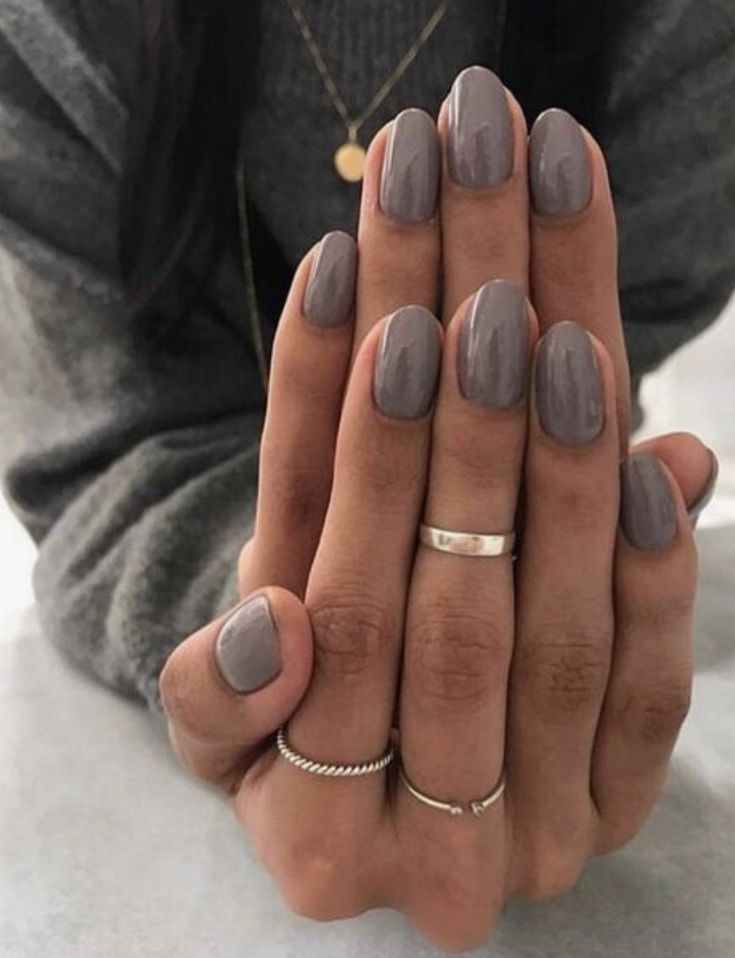 pinterest @kyliieee | dark grey nail polish gel manicure ideas for women | nail polish color …