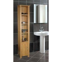 Mobel Oak Solid Oak Open Bathroom Unit Tall