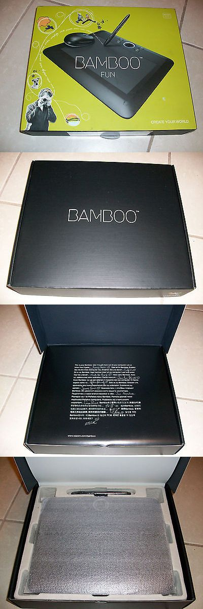 Cables and Adapters: New Wacom Bamboo Fun Cte650k Tablet With Pen And Mouse Medium 8.5W X 5.2D BUY IT NOW ONLY: $45.0