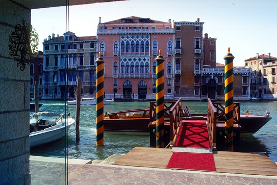 The view from the hotel lobby - had same view as this just 2 floors up at the   Palazzo Sant'angelo Sul Canal Grande - Venice Italy