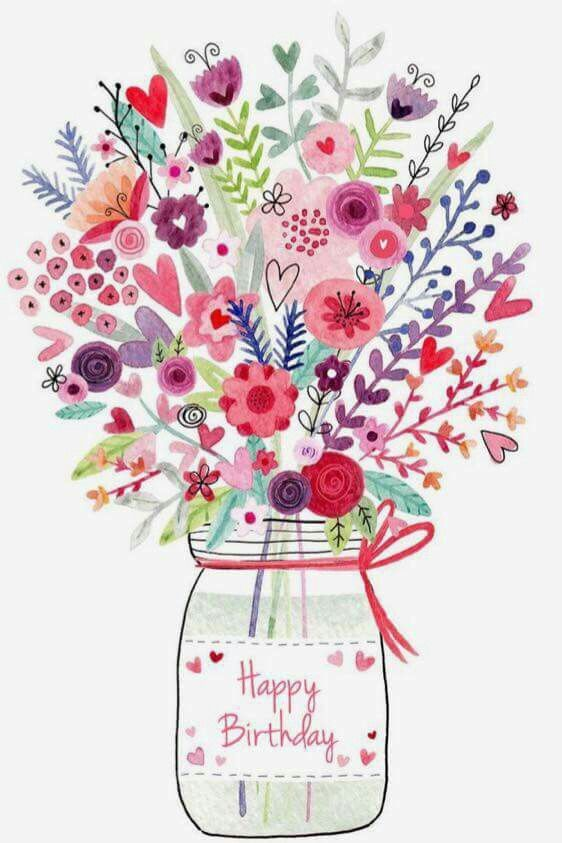 Sweet wildflowers in mason jar bd wishes!!