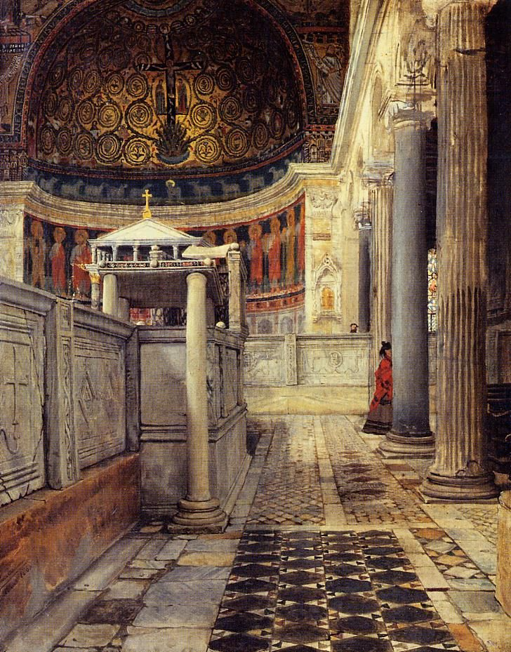 Interior of the Church of San Clemente, Rome by Lawrence Alma-Tadema