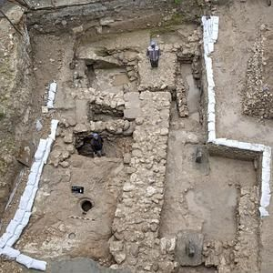 Archaeologists in NAZARETH unearthed this ancient home (above), which dates to the time of Jesus as a boy.