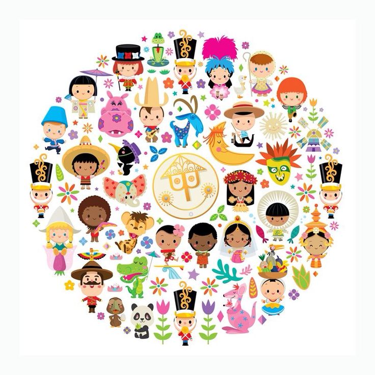 """Love this! """" Its a Small World"""" Cast of characters."""