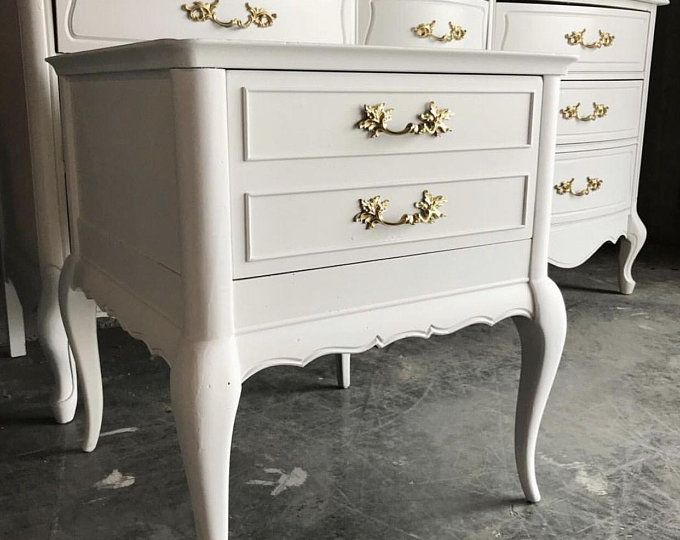 French Provincial Dresser And Nightstand Henry Link Teal Gold
