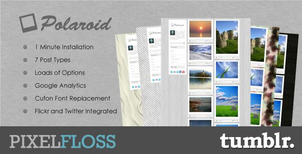 Polaroid Tumblr Theme - ThemeForest Item for Sale