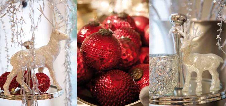 #weihnachten in rot und silber