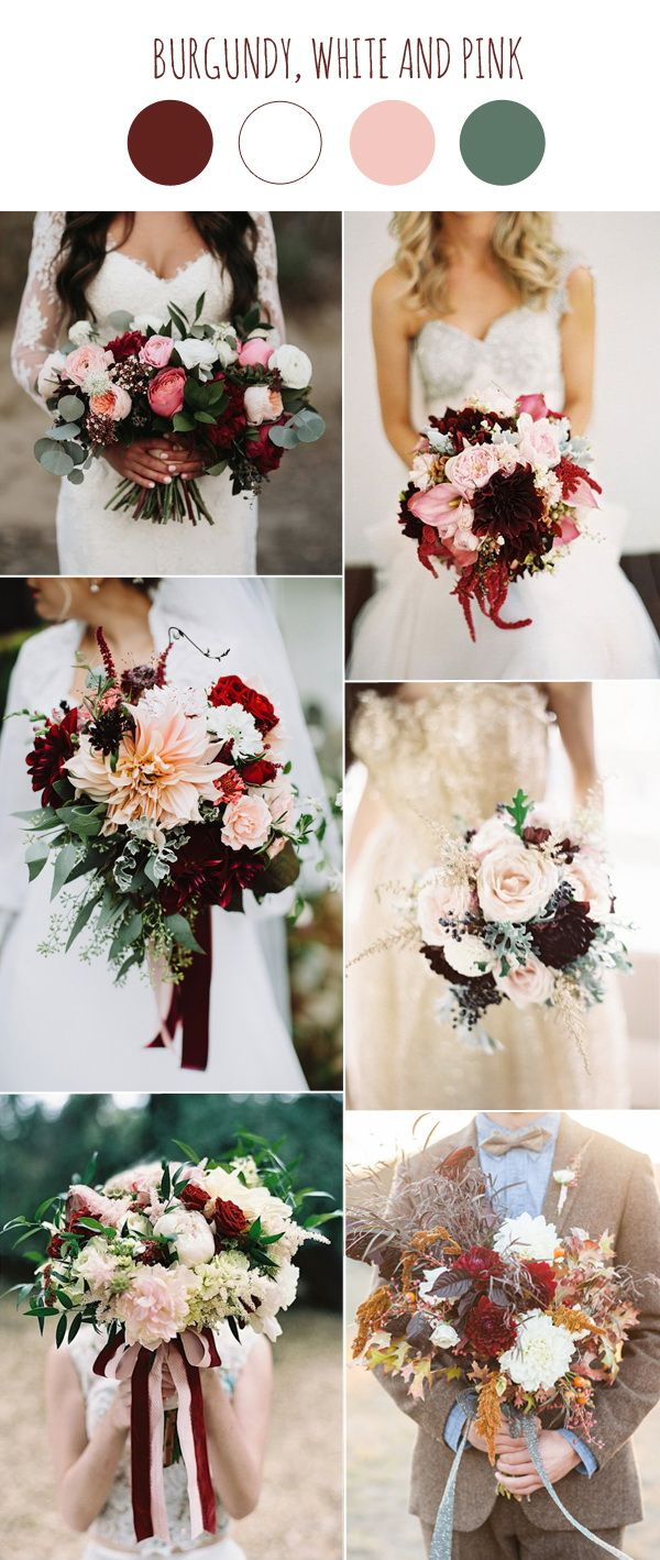 25 best ideas about burgundy bouquet on pinterest burgundy wedding flowers fall wedding - Burgundy and white wedding decorations ...