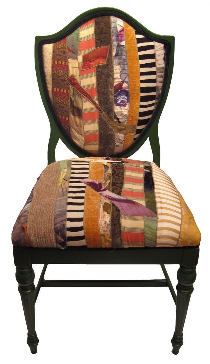 Sara palacios designs i love the funky fabric chairs for Funky fabric dining chairs