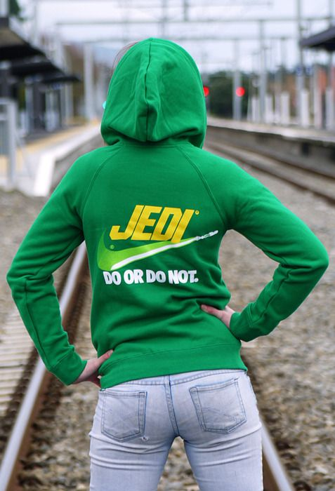 JEDI: Do Or Do Not / Brand Wars - These hoodies are now available at HtCRU tees  Jedi Josie photographed by John Bocock.   (via howtocarveroastunicorn)