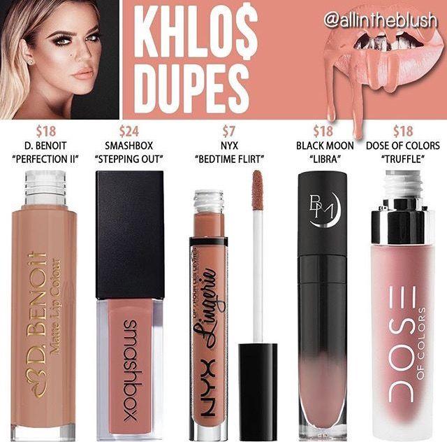 Kylie Jenner lip kit dupe Khloe