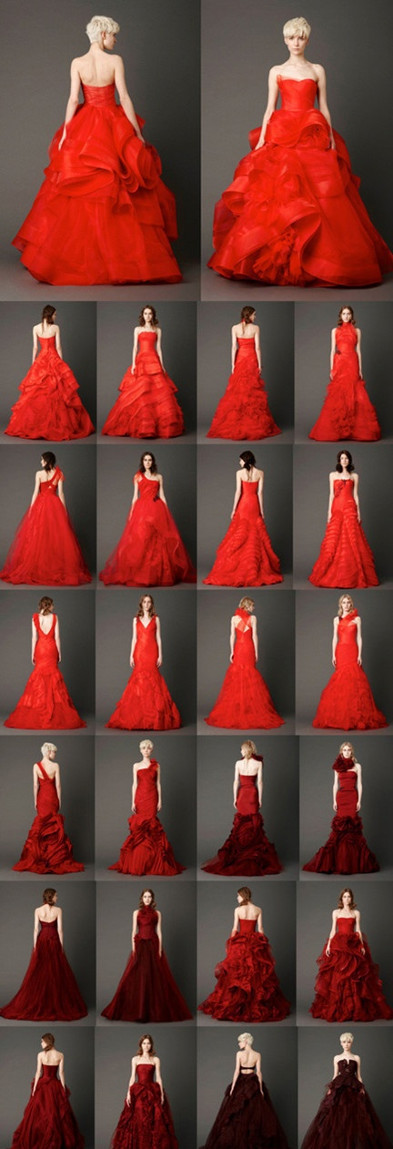 Very Wang 2013 Spring Red Wedding Dresses