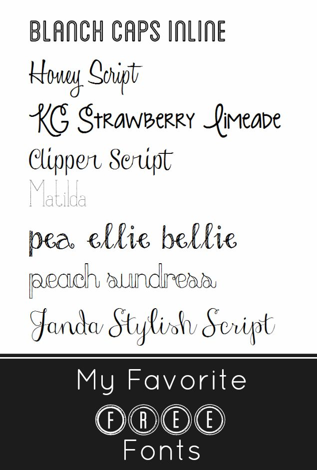 the pretty bee: MY FAVORITE FREE FONTS.