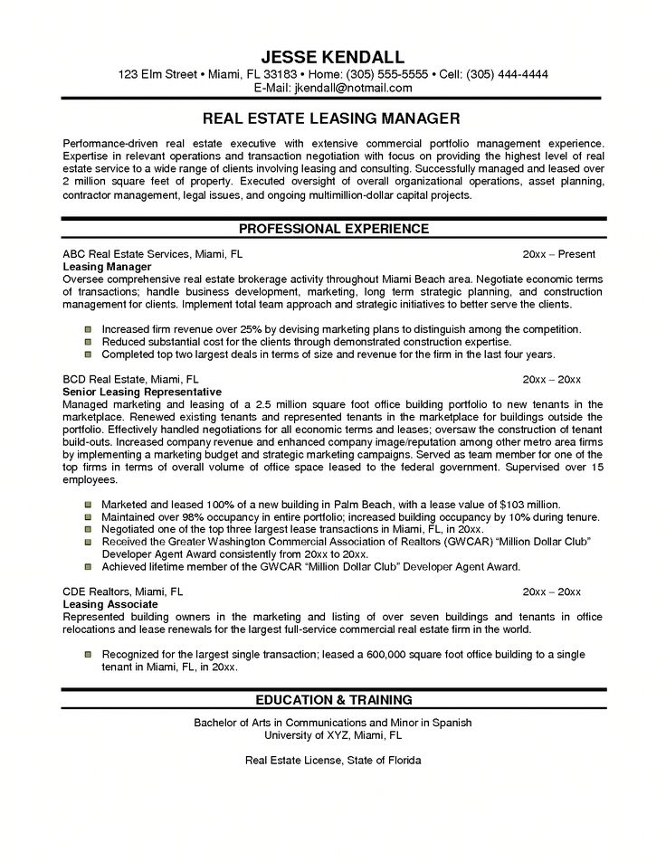 Best 25+ Examples of resume objectives ideas on Pinterest - sample real estate resume