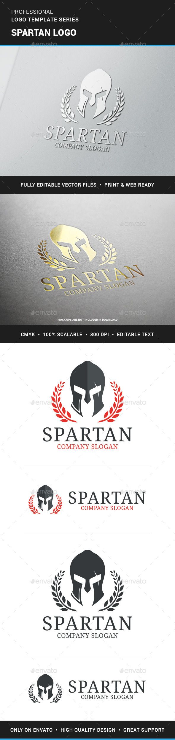 Spartan  - Logo Design Template Vector #logotype Download it here: http://graphicriver.net/item/spartan-logo-template/12438584?s_rank=965?ref=nexion