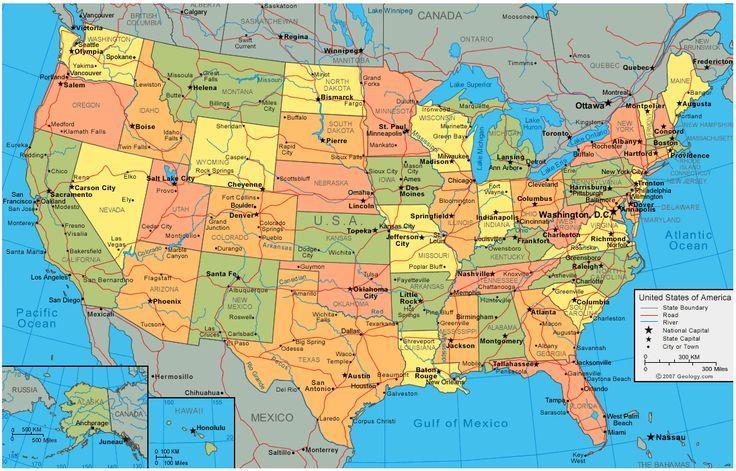 Mappa degli Stati Uniti   Geografia Economia Clima Società