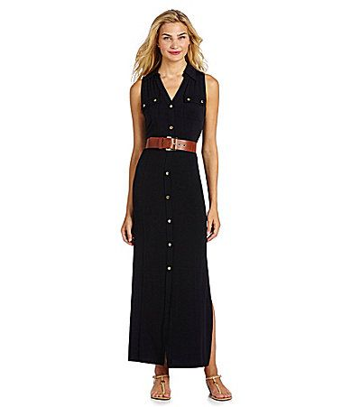 MICHAEL Michael Kors Sleeveless Maxi Dress #Dillards