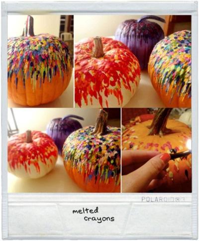 melted crayon drip art.: Holiday, Pumpkin Ideas, Crafty, Busty Pumpkins, Art, Melted Crayons, Diy, Crayon Pumpkins, Halloween