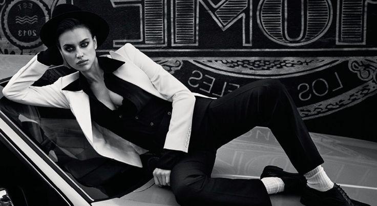 O Estilo MasculinoFeminino Sensual de Irina Shayak na Vogue Rssia Março 2017 por Luigi  Iango  Fragmentos de Moda