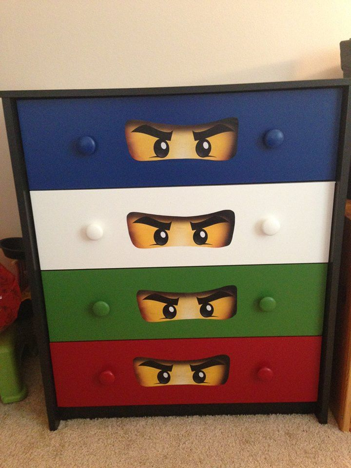 Ninjago dresser satin behr ultra printed ninjango eyes for Kinderzimmer ninjago