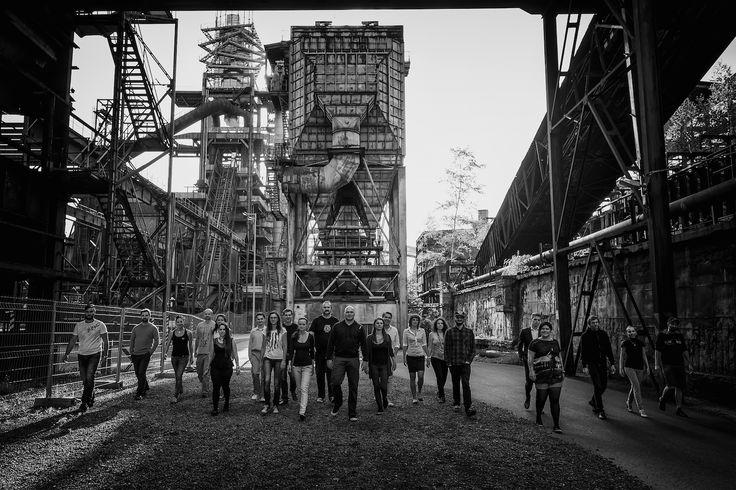 Kráčíme k vám....celý tým SABANERO v ostravském industriálním klenotu-v Dolních Vítkovicích.