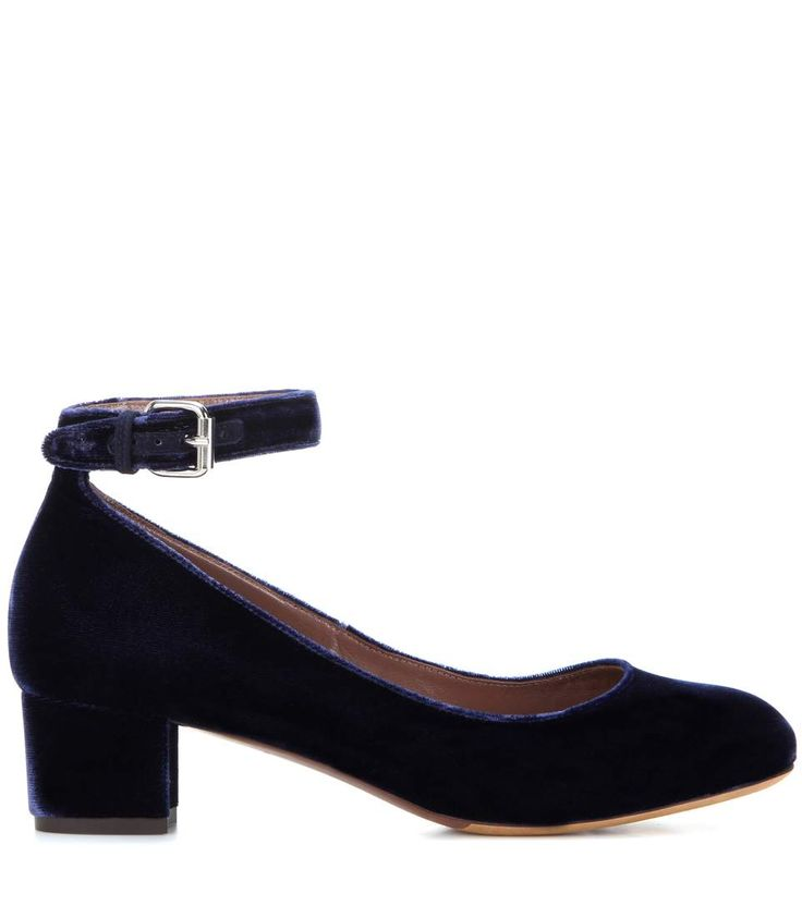 Pumps in velluto blu scuro 595,00 simmons