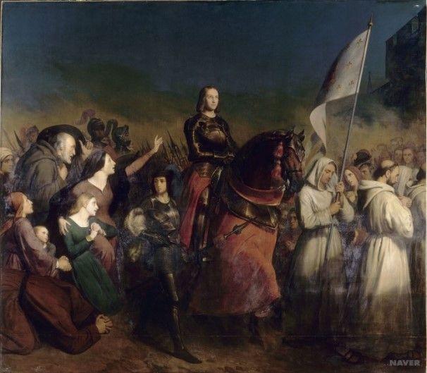 <전쟁3> 헨리 셰퍼 '도시가 해방되는 날 밤, 오를레앙으로 입성하는 잔 다르크'