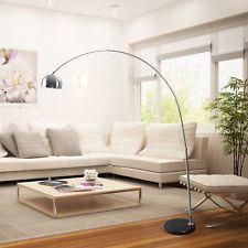Modern Floor Arc Lamp Adjustable Height U0026 Span Lighting Living Room Large