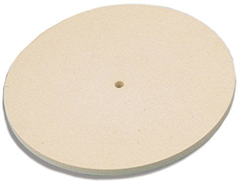 """Jewelers Felt Lap Diamond Hard 6"""" Diameter X 1/4"""" Thick X 1/2"""" Hole. Exception ally dense, chemically treated felt. Scroll down for detailed description. Suitable for forming smooth, flat surfaces with sharp corners. Free Shipping!!! Used by Professionals."""