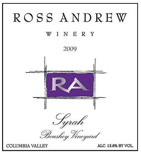 2009 Ross Andrew Winery Syrah Boushey Vineyards