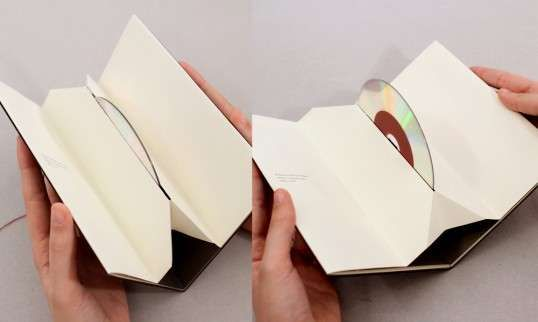fold-out DVD/CD containers