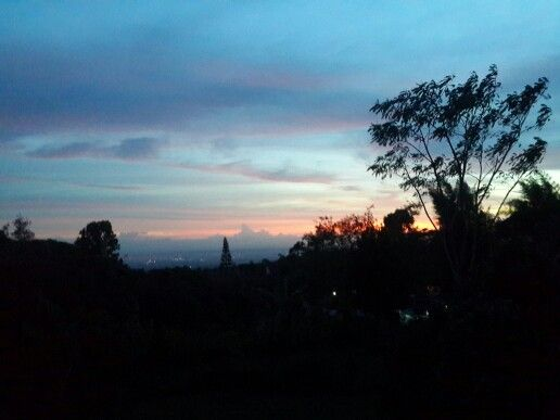 Sunset and view from Villa Abmarina Kaliurang