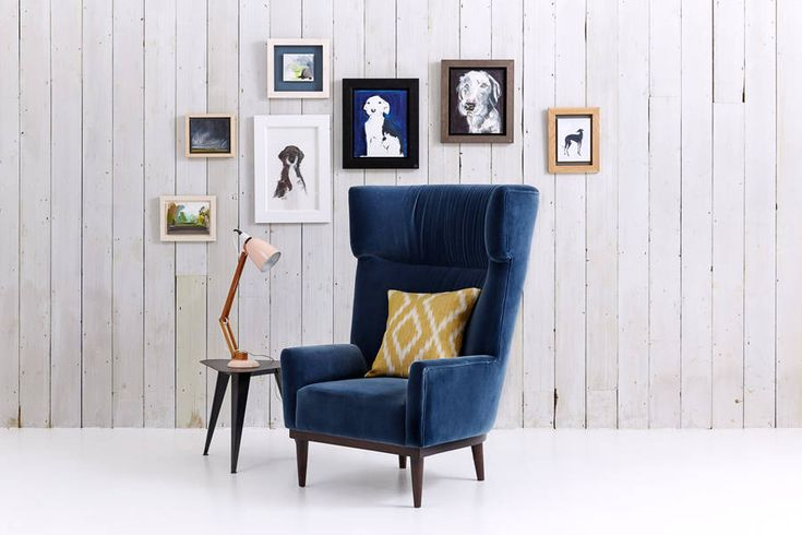 oscar wing back chair by love your home | notonthehighstreet.com