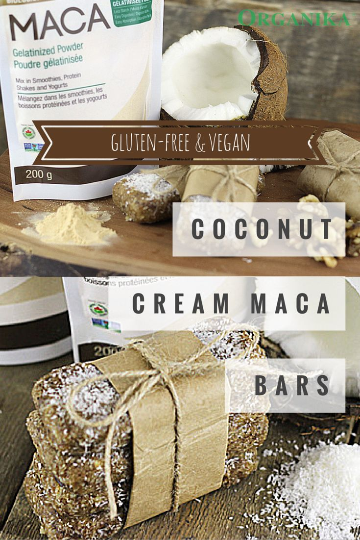 Maca is a peruvian root useful for boosting energy and libido. Try our Coconut Cream#MacaBars #recipe! Maca mixes easily into smoothies, baked goods etc.#healthysnack#glutenfree#vegan#cleaneats