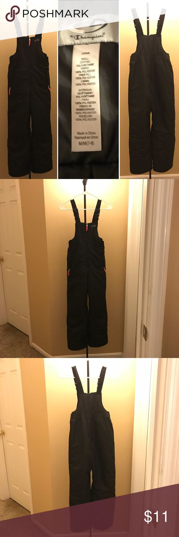 Champion - Overalls NWOT - Kids Ski Overalls by Champion - Size M 7/8. Never wore them. We ended up not getting snow that year.   Just in time for this year Winter! ⛷ Champion Jackets & Coats