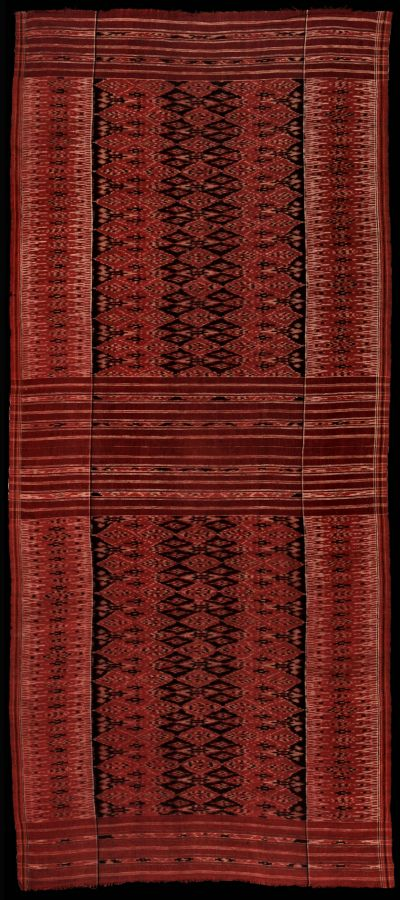 Ikat from Nusa Penida, Bali, Indonesia (Beautiful and old example of 'Balinese' cotton ikat kamben cepuk made on Nusa Penida, an island off aouthern coast of Bali. A true pusaka (heirloom): kamben cepuk are never worn, only used for display in ceremonies, and passed on from generation to generation. )