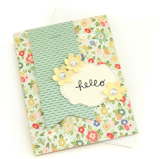 cute simple card: Blog Summer, Cute Cards, Cards Ideas, Cards Silhouettecameo, Pockets Blog, Banners Cards, Hello Cards, Arts Crafts Ideas, Paper Crafts